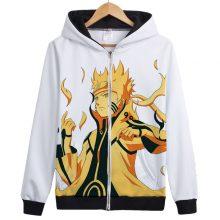 Naruto Nine-Tails Chakra Mode Printed Hoodie