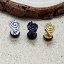 Naruto Stainless Steel Earrings (Silver, Gold, Black)