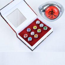 Naruto Akatsuki Rings 10 Pcs/set