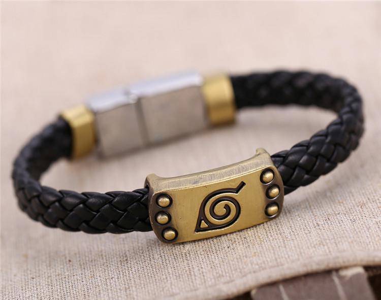 Naruto Weave Leather Bracelet