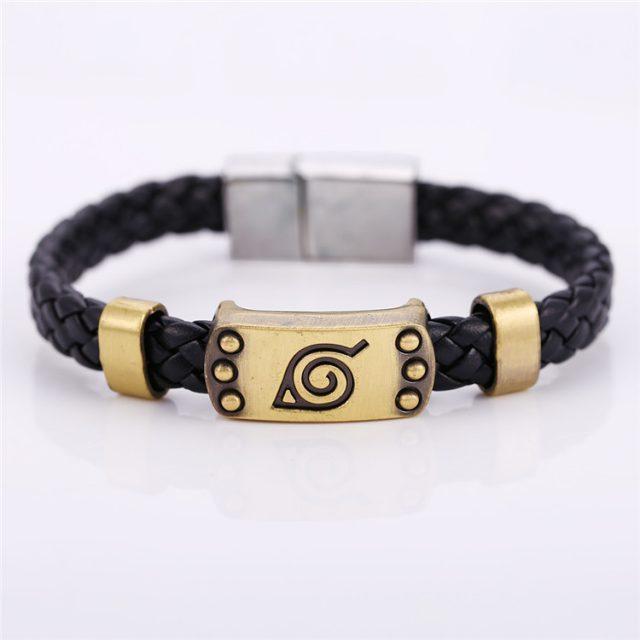 SPECIAL OFFER! Naruto Leather Bracelet Leaf Village