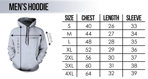 Hoodie size