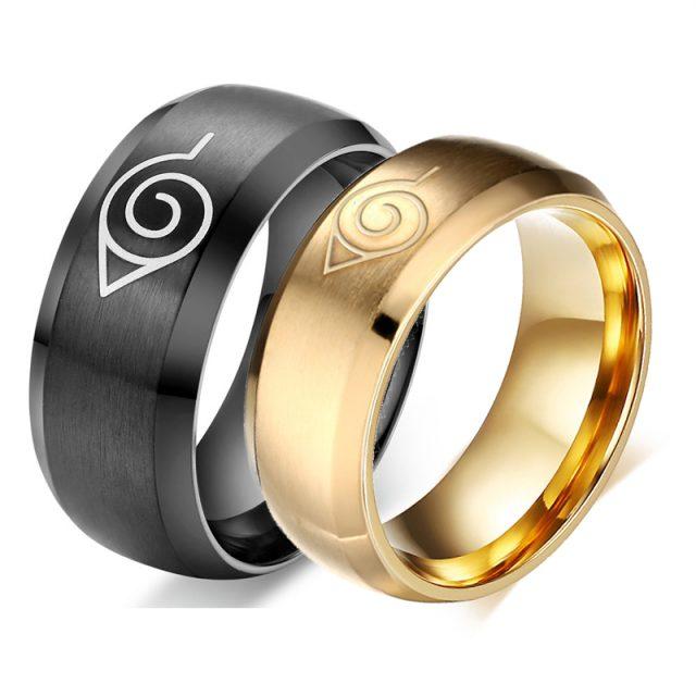 3 Pcs/set Konoha Symbol Rings