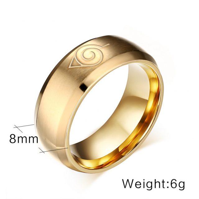 3 Pcs/set Naruto Konoha Symbol Rings