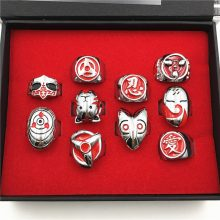 Naruto Ring Set With Box (10pcs/set)