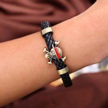 One Piece Skull Weave Bracelet