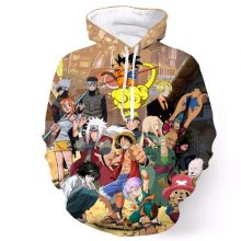 One Piece & Other Anime Printed 3D Hoodie (3 types)