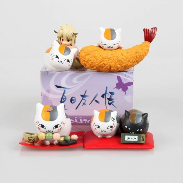Natsume's Book of Friends Snack Time Action Figure 4 Pcs/Set