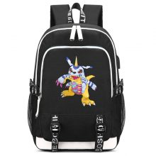 Digimon Gabumon Print Backpack with USB Charging Port