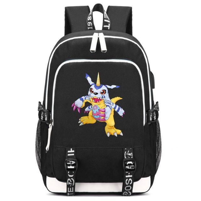Digimon Gabumon Print Backpack with USB Charging Port