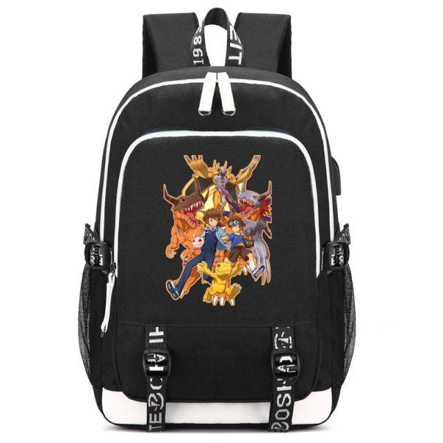 Digimon Tai Kamiya Print Backpack with USB Charging Port