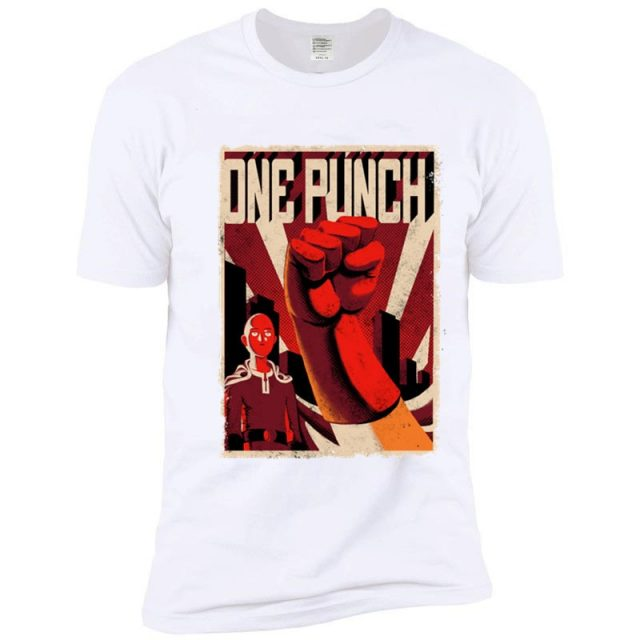 One Punch Man Anime Printed Casual T-shirt