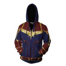 Avengers End Game Captain Marvel Themed Print Hoodie