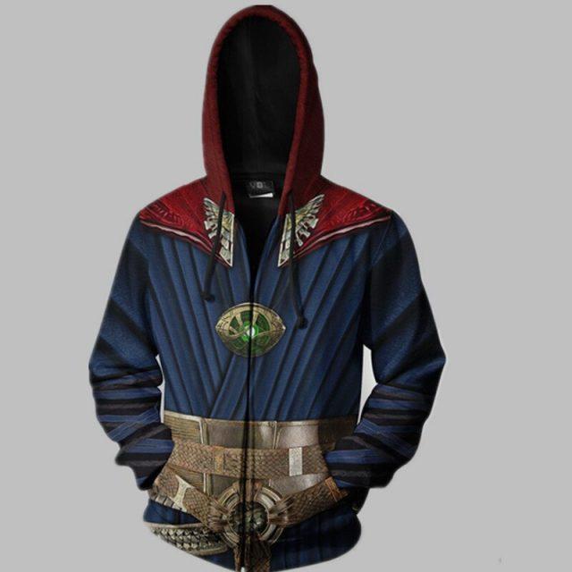 Avengers End Game Doctor Strange Themed Print Hoodie
