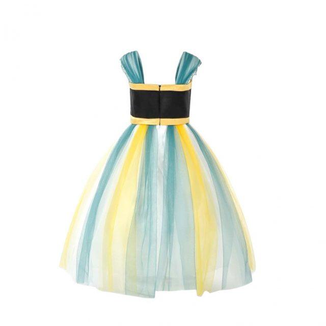 Frozen Princess Anna Cosplay Costume Halloween Dress