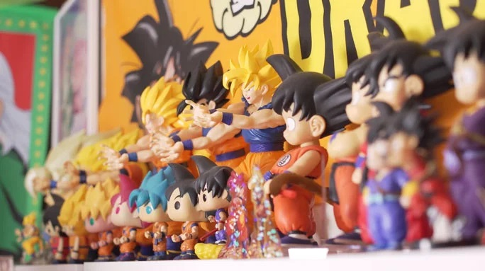 Dragon Ball Super Fan Amasses Largest Merch Collection to Meet Goku Voice Actress